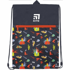 Сумка для обуви с карманом Kite Education Время и Стекло VIS19-601L-2