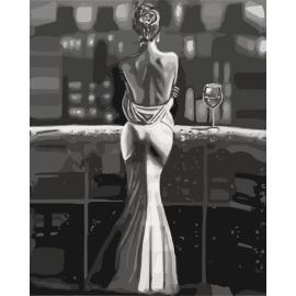 """Картина по номерам """"Созерцая город"""", 40*50см, КНО4611"""