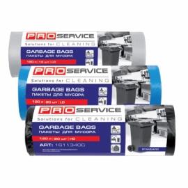 Пакеты для мусора LD120л/10шт., черные, 70*105 см, Optimum PRO Service
