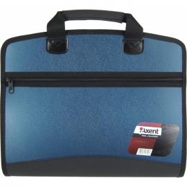 Портфель Axent 1621-12-A, А4, 4 отделения, синий металлик