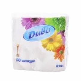 Салфетки бумажные, барные, Диво 24*25 см, 50 шт., однослойные, белые