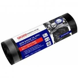 Пакеты для мусора с затяжкой HD 35л/15шт., черные, 51*54 см, PRO Service