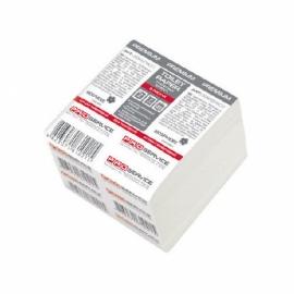 Туалетная бумага в листах, 1-слойная, белая, 250 листов в упаковке, PRO Service Standart