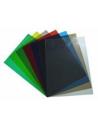 Обложка А3 прозрачная 180/200мк дымчатый/синий уп/100