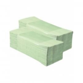 Полотенца бумажные, макулатурные, зеленые, 160 шт., V-сложения, Малинський папір