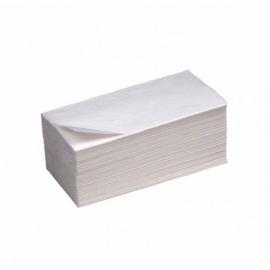 Полотенца листовые белые, V-сложени,е 1х-слойные, проклеенные, 150 шт/уп., Papero 245*230 мм